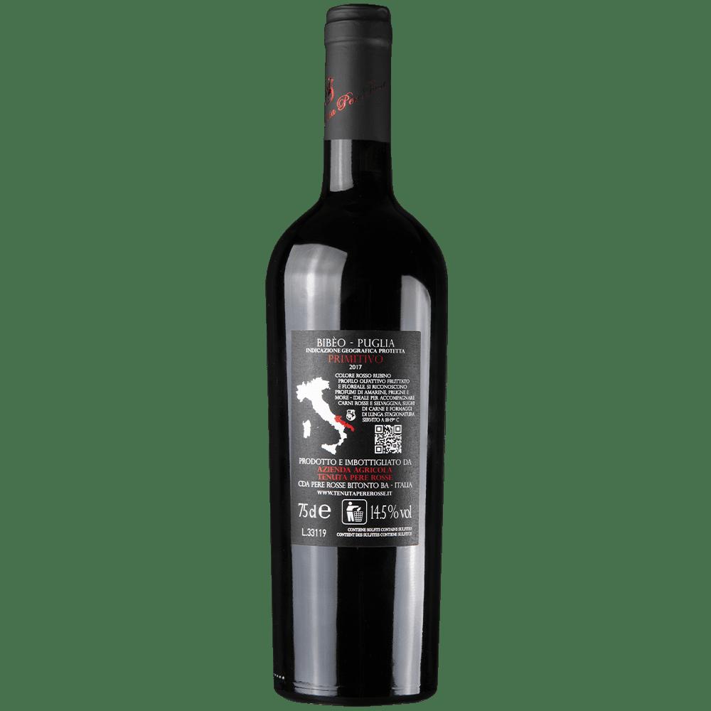 primitivo rosso 2017 premiato igp bibèo retro